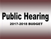 2017 Budget Public Hearing