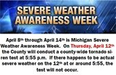 Severe Weather Awareness - Siren Test 4/12 at 5:55