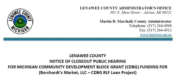 Notice of Closeout