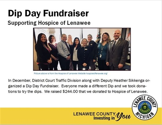 District Court fundraiser for Hospice of Lenawee