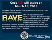CodeRED expires March 18th