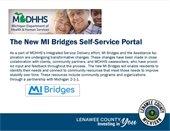MDHHS New MI Bridges Self Service Portal MIBridges logo