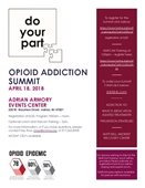 Do your part Opioid Addiction Summit flyer April 18, 2018