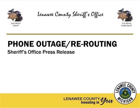 Press Release - Phone Outages / Re-Routing
