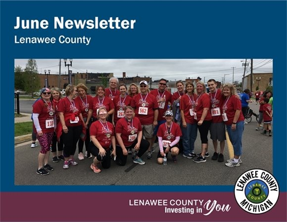 June Newsletter Picture of ERace Stigma 5K participants